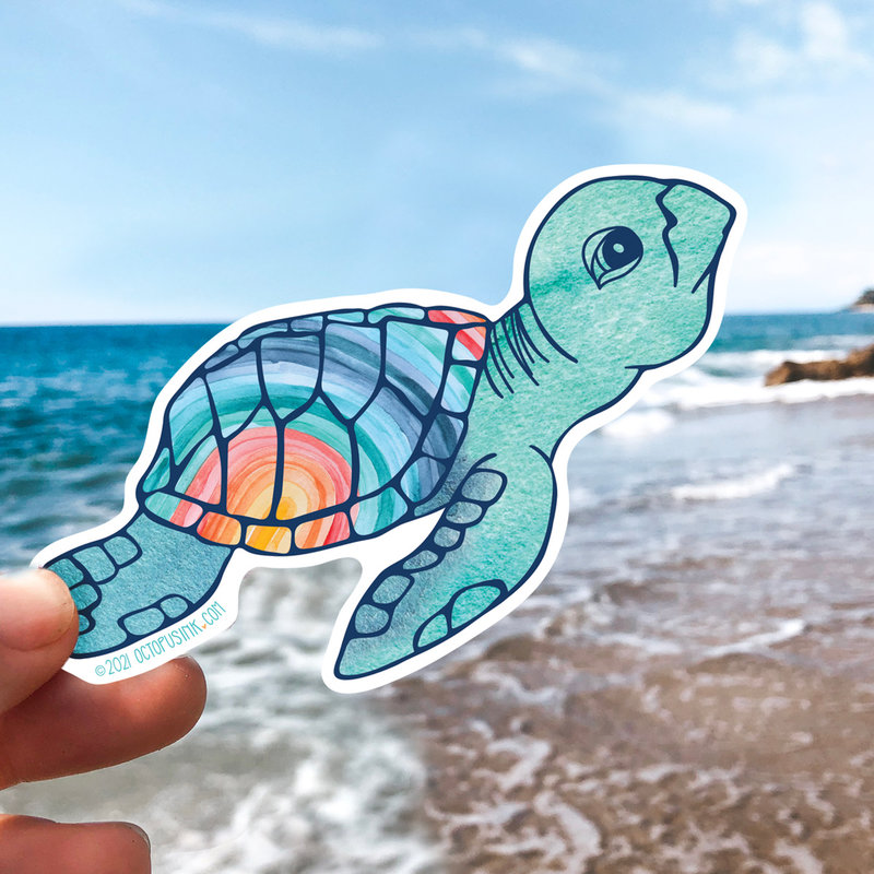 Sea Turtle Hatchling- Decal