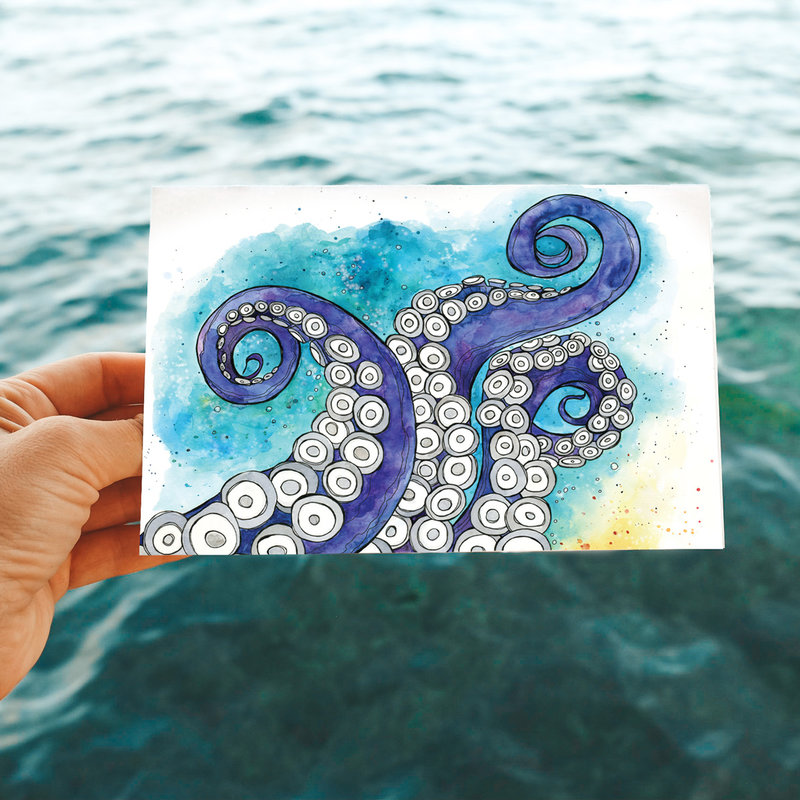 Tentacles- Note Card