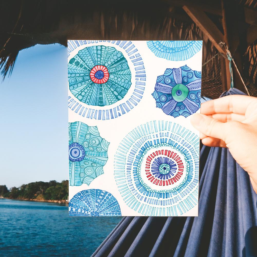 Urchin- Note Card