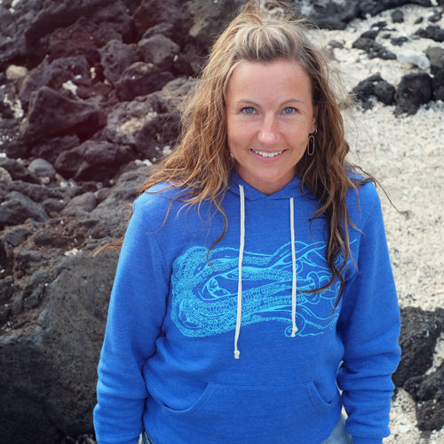 Kraken (Royal Blue) - Fleece Pullover, Unisex