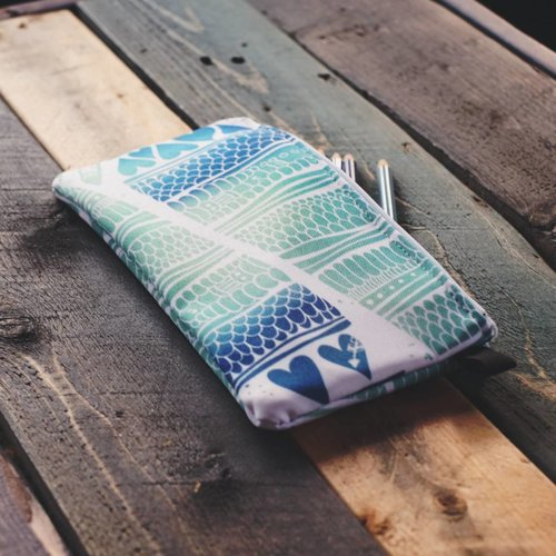 Mermaid- Zippered Pouch
