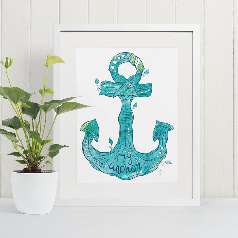 Anchor- 11 x 14 Giclee