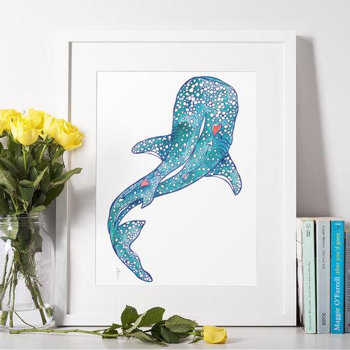 Whale Shark- 11 x 14 Giclee
