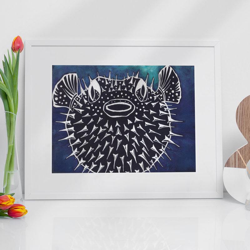 Pufferfish- 11 x 14 Giclee