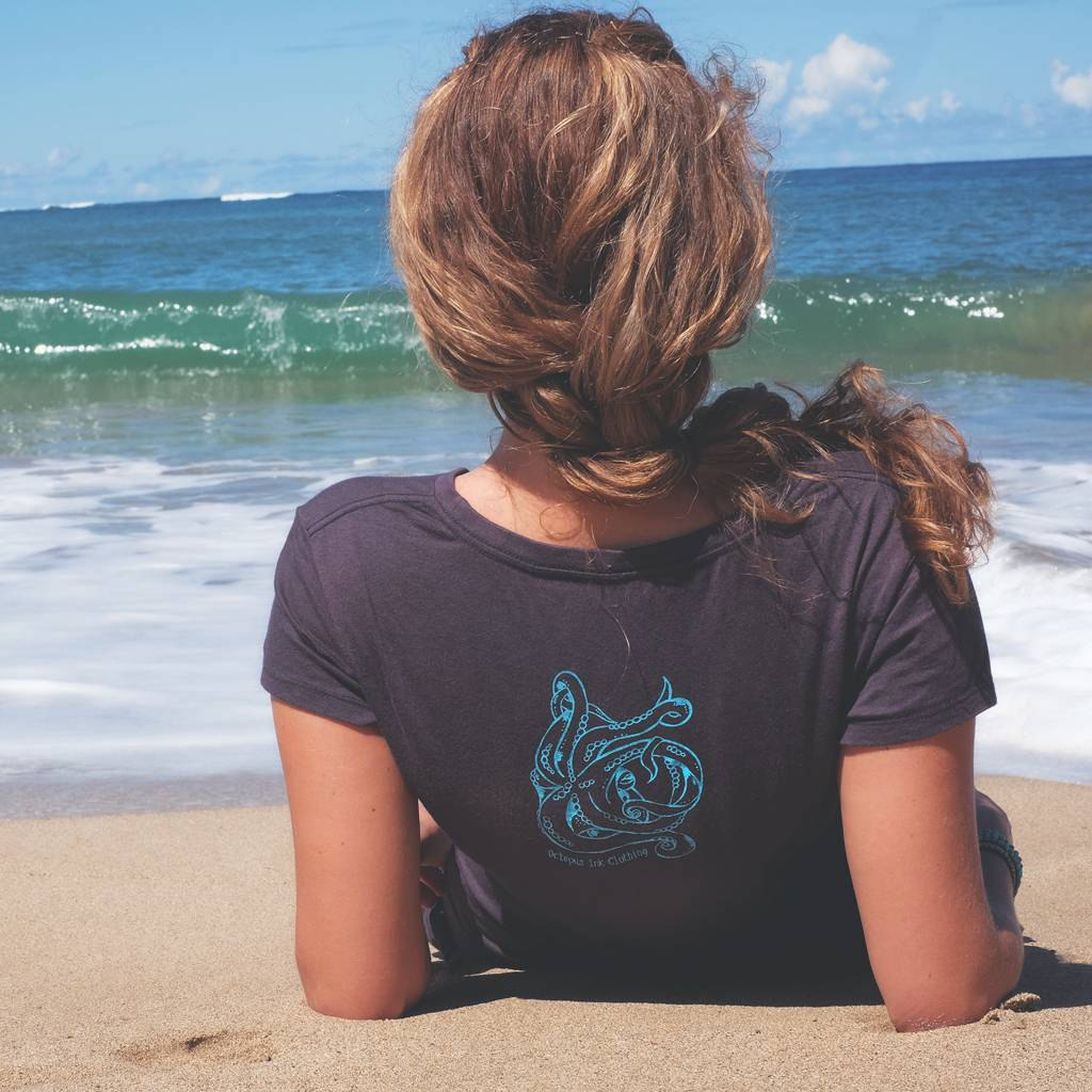 Mermaid's Heart (Navy)- Ladies Tee
