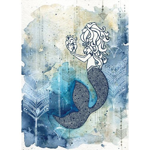 Mermaid's Heart- 5 x 7 Giclee