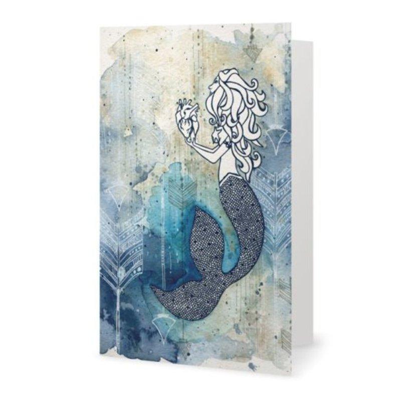 Mermaid's Heart- Note Card