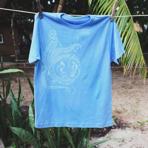 Tentacle (Blue)- Kids, Tee