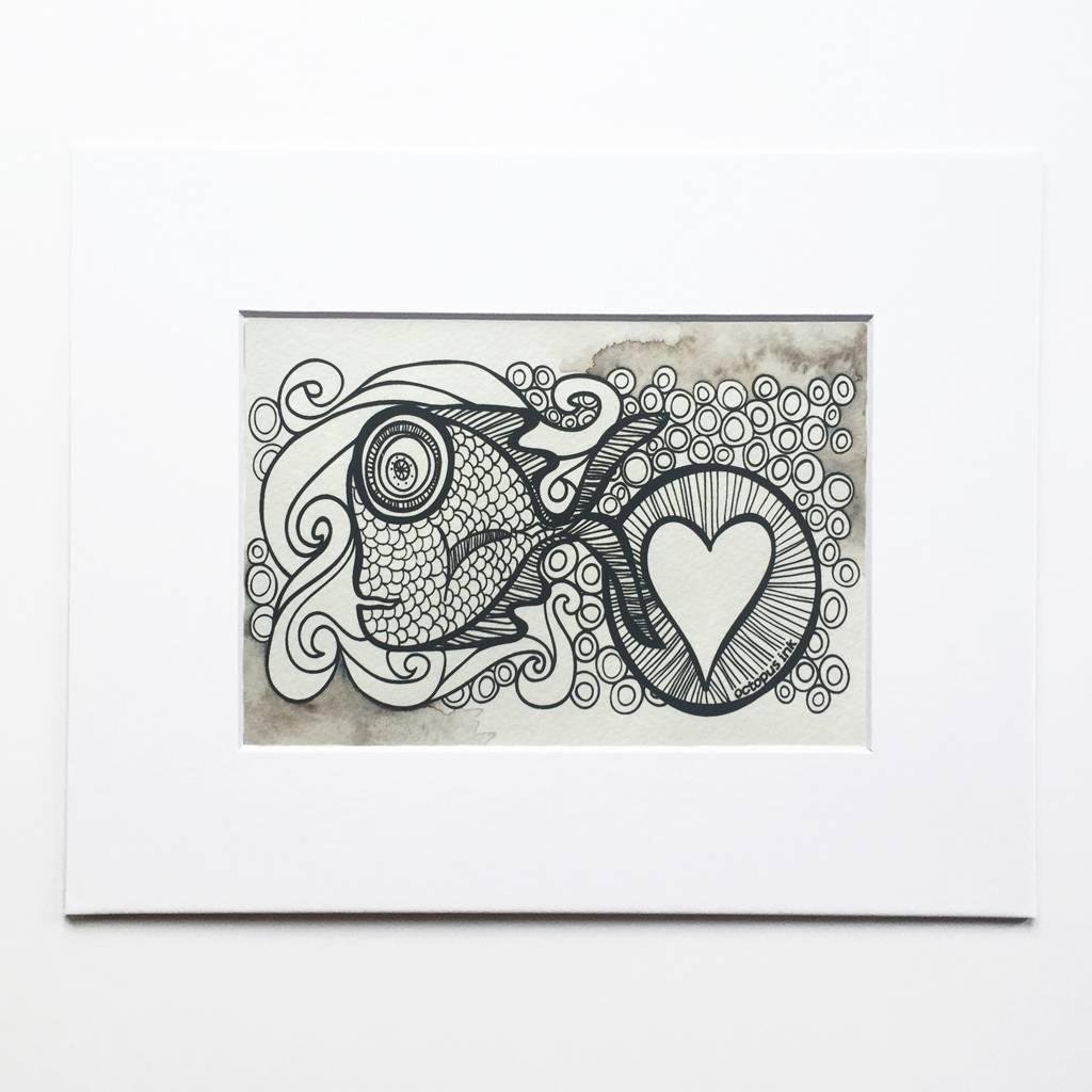 Sayulita- Octopus Ink Watercolor