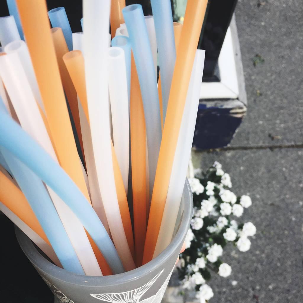 Straw- Blue (Transparent)