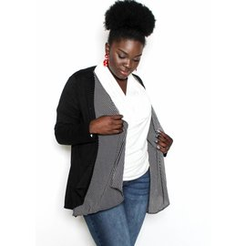 SCARLETT BLACK WATERFALL CARDIGAN