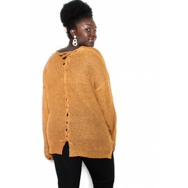 KARA MUSTARD KNIT SWEATER