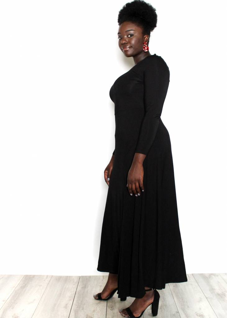 NIKKI BLACK MAXI DRESS