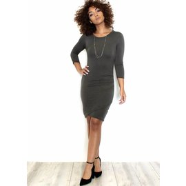 KIARA RUCHED BODYCON DRESS
