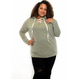 TASHA LACE UP SWEATSHIRT