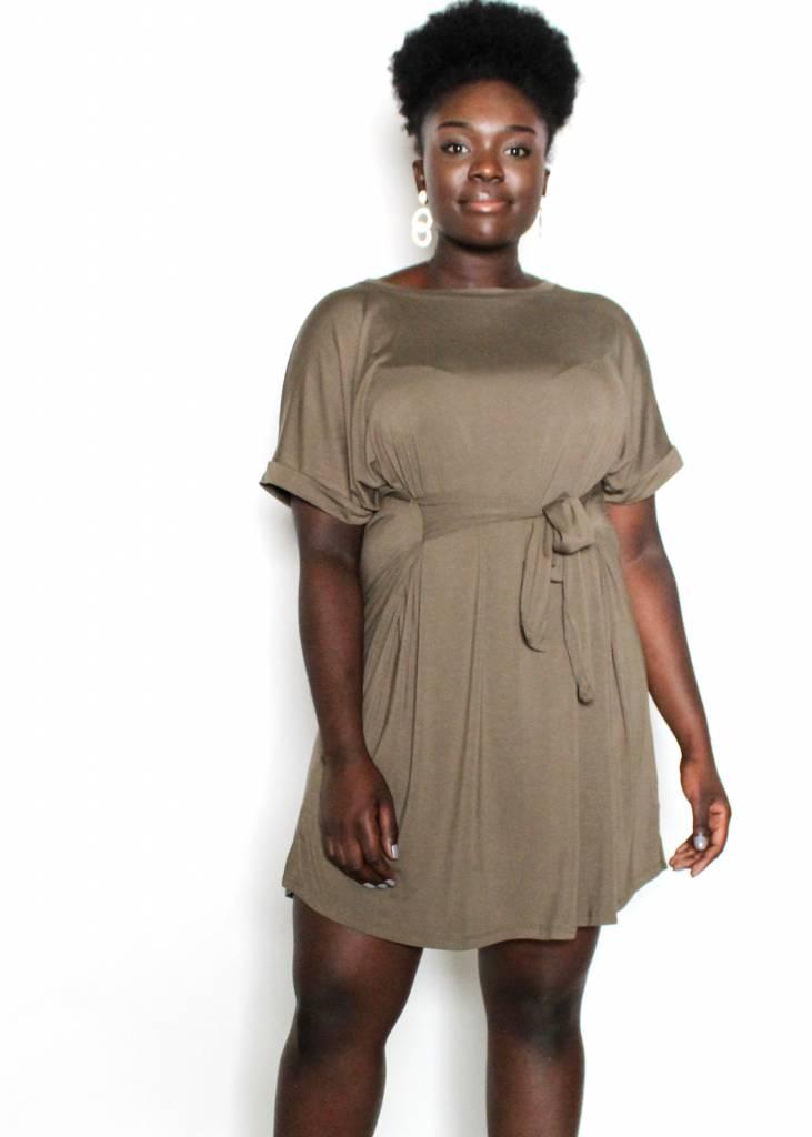 HEIDI OLIVE SUPER SOFT DRESS