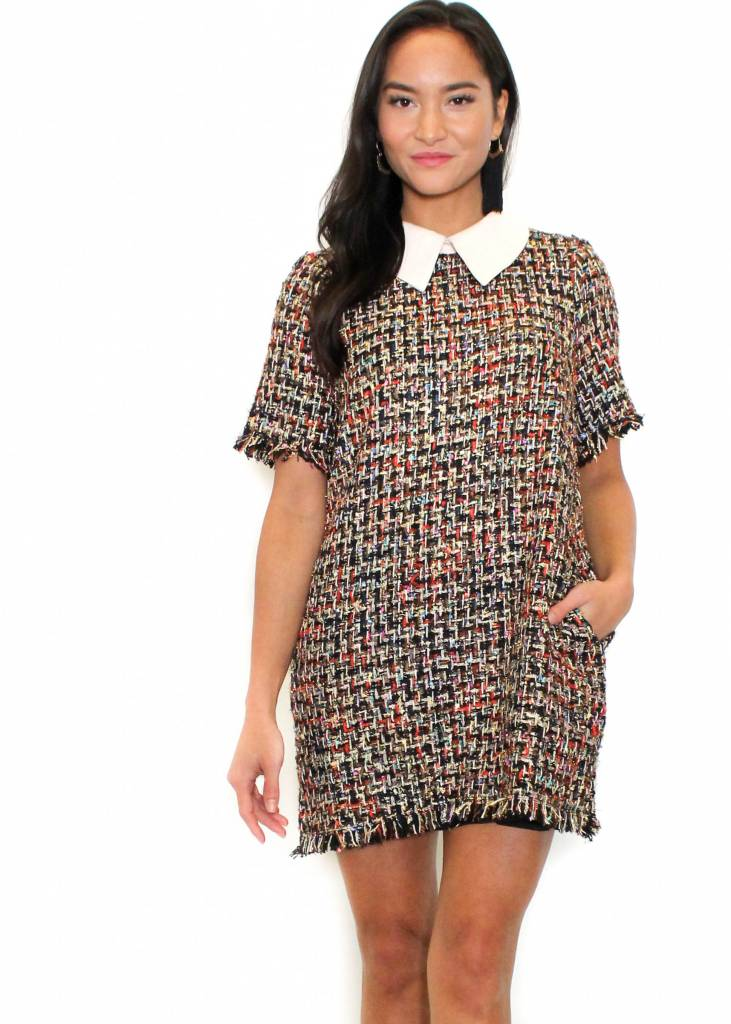 VALENTINA TWEED SHIFT DRESS