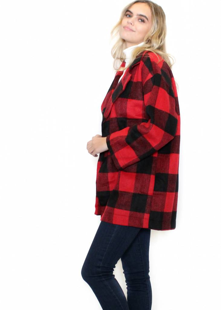 CADENCE PLAID COAT
