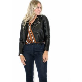 MONICA LEATHER MOTO JACKET