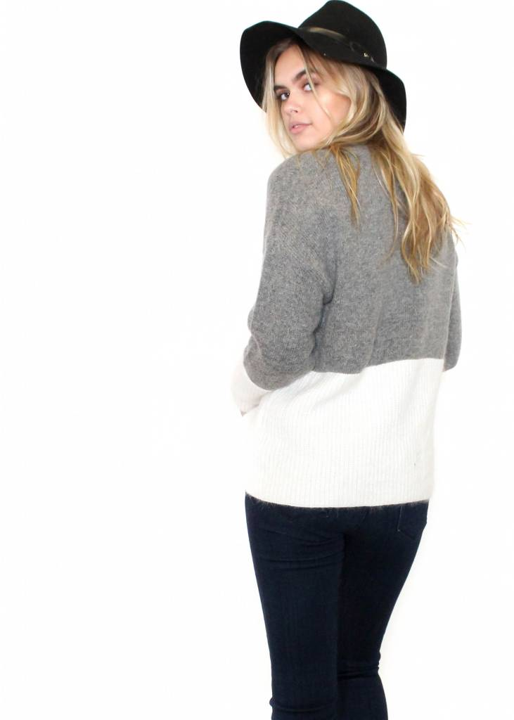 STACEY COLOR BLOCK SWEATER