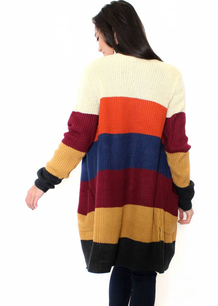 THEA COLOR BLOCK CARDIGAN