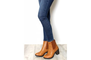 AMBER CHUNKY ANKLE BOOTIES