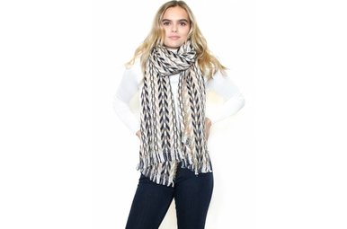 CLAIRE PRINTED BLANKET SCARF