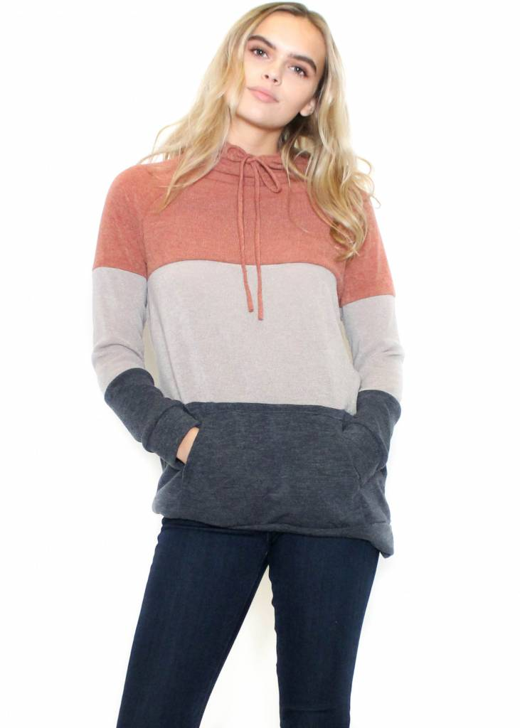 TONYA COLOR BLOCK SWEATSHIRT