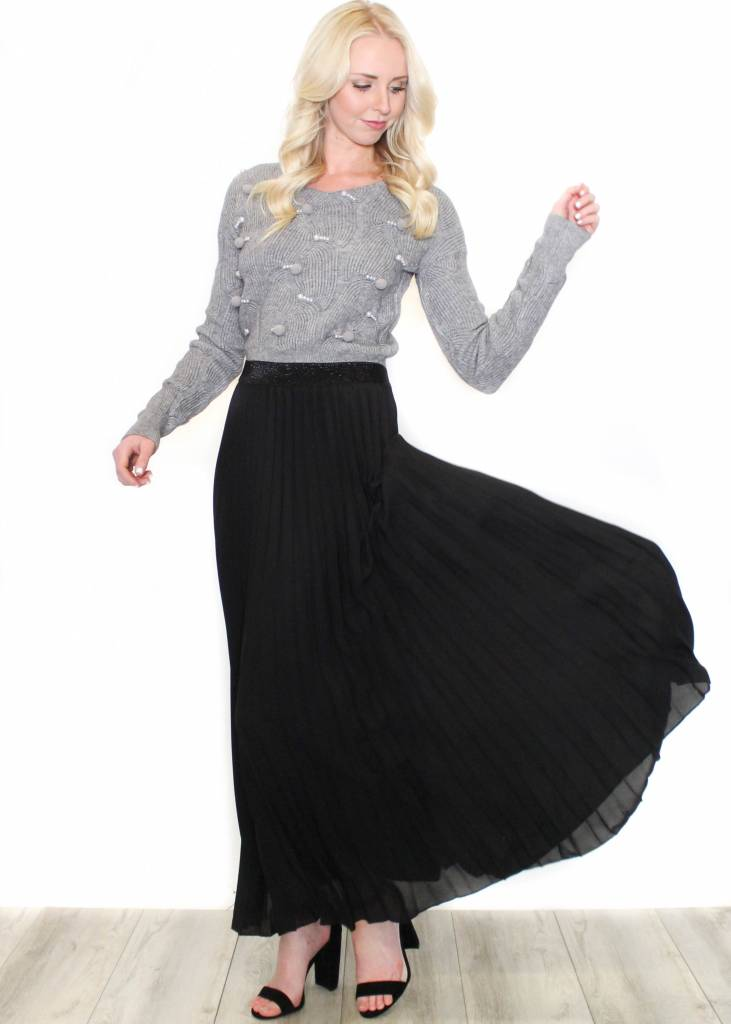 AURORA PLEATED MAXI SKIRT