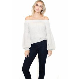 KINSLEY OFF THE SHOULDER SWEATER