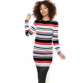 SOFIA STRIPED SWEATER DRESS
