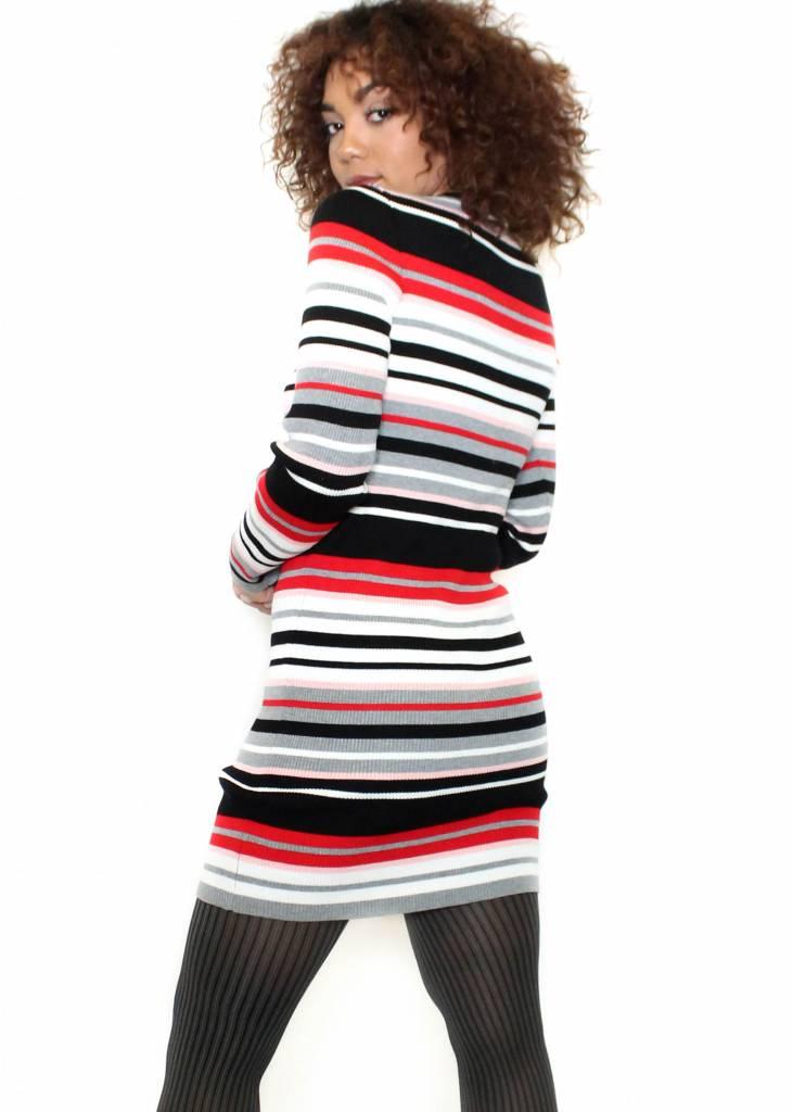 SOFIA STRIPED SWEATER DRESS