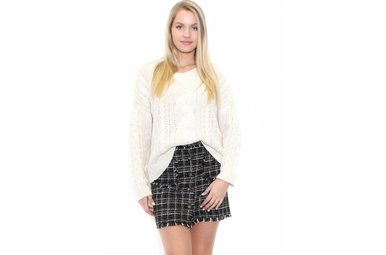 KENDALL TWEED MINI SKIRT