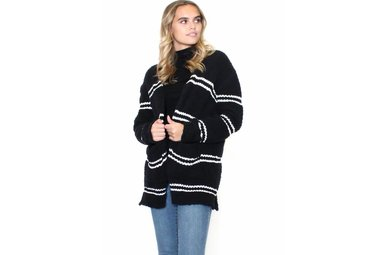 WARM WELCOME STRIPED CARDIGAN
