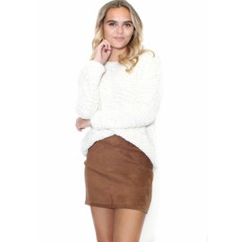 LEAH SUEDE MINI SKIRT