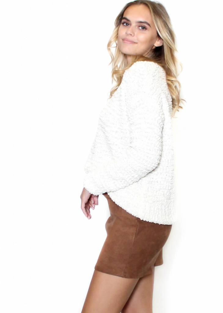 LYDIA POPCORN FLEECE SWEATER