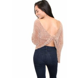 TRINITY OPEN BACK SWEATER