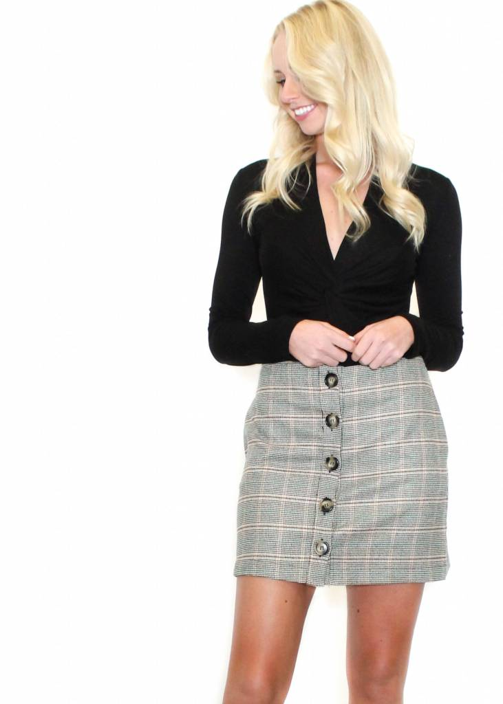 ABIGAIL PRINTED MINI SKIRT