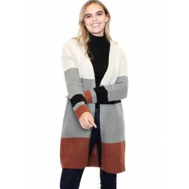 ALEXA COLOR BLOCK CARDIGAN