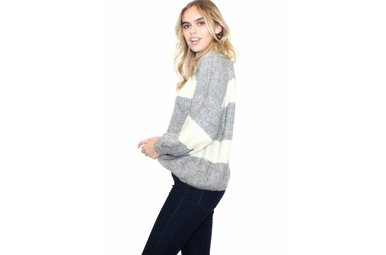 TEAGAN STRIPED SWEATER
