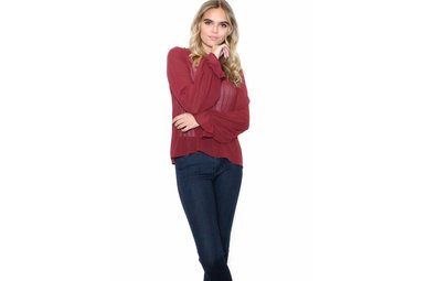 SONOMA BURGUNDY BLOUSE