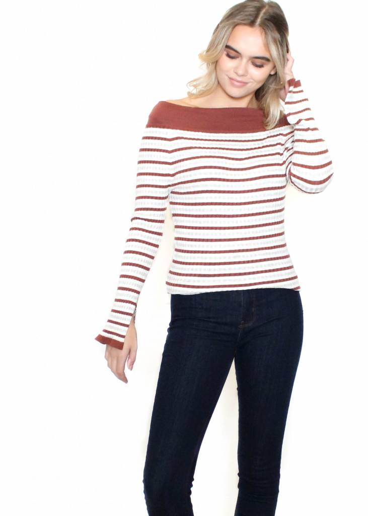 ROXANNE STRIPED TOP
