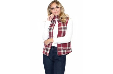 HIGH SPIRITS PLAID VEST