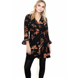 TYRA FLORAL WRAP DRESS