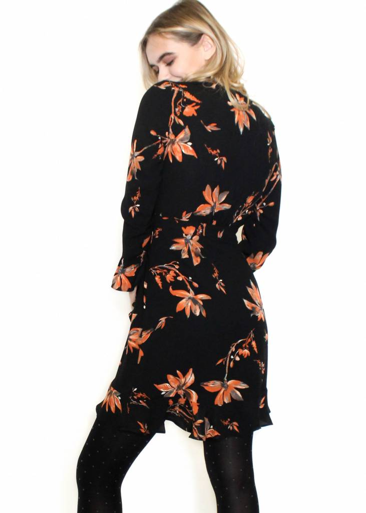 TYRA FLORAL WRAP DRESS