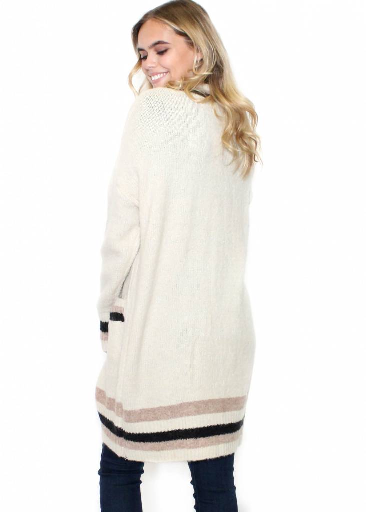 CHARLESTON CREAM CARDIGAN