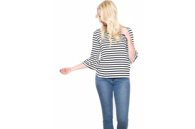 BREAKAWAY STRIPED TOP
