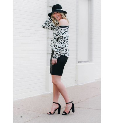 ALY LEOPARD PRINT SWEATER