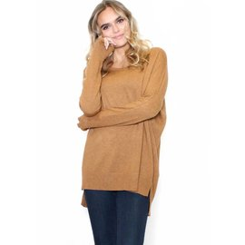 COUNT ON ME CAMEL SWEATER