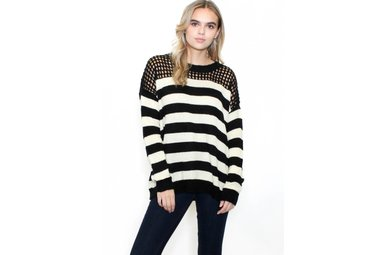ODESSA STRIPED SWEATER
